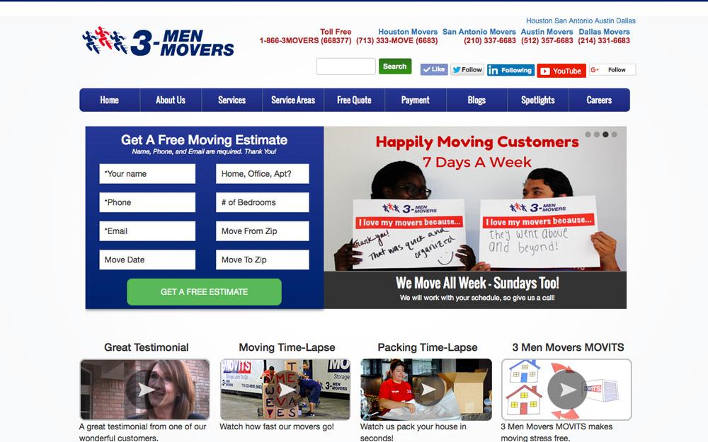 3 men movers web development