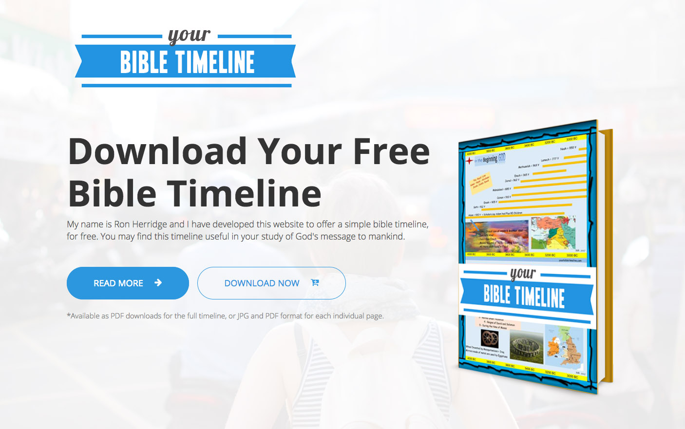 Ron Herridge Releases A Free Bible Timeline Download